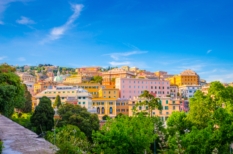 Canva – Panoramic view of Genoa in a beautiful summer day, Liguria, Italy